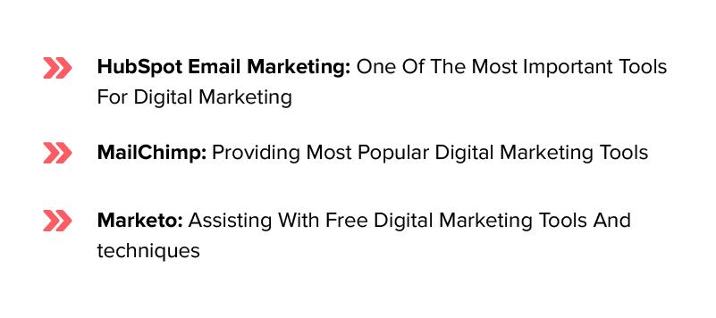 tools used in digital marketing