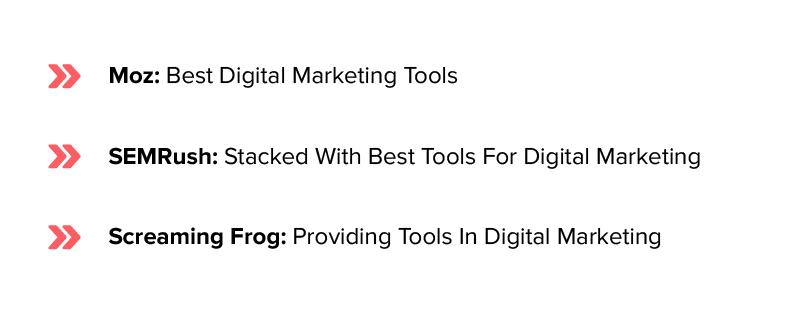 list of digital marketing tools