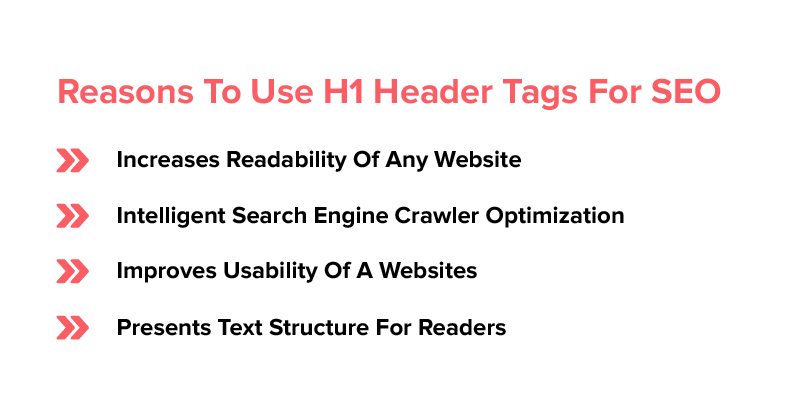 Reasons To Use H1 Header Tags For SEO