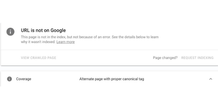 Good Google Indexing