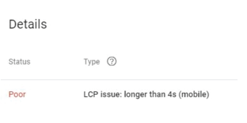 LCP and CLS issues