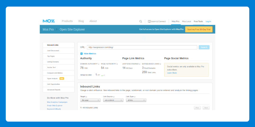 How Does Moz Calculate Domain Authority
