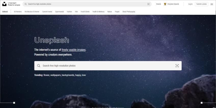 Unsplash: Best Alternative Search Engine With Graphics
